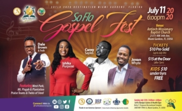 ADJUSTED – Gospel Fest & Olympic Games Weekend Handbill (Back)