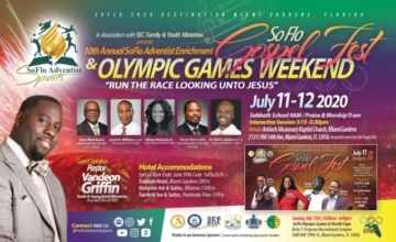ADJUSTED – Gospel Fest & Olympic Games Weekend Handbill (Front)