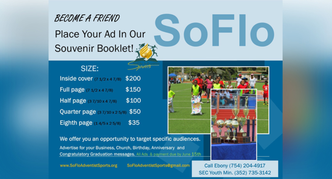 Place Your Ad SoFlo Booklet 2020